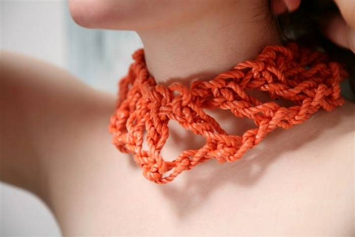 orange thick crochet crohe