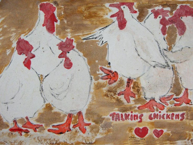 'talking chickens'