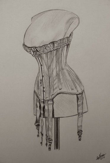 New Antique corset drawing