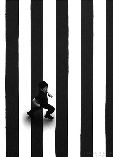 Life is: White strip, Black strip, Wh...