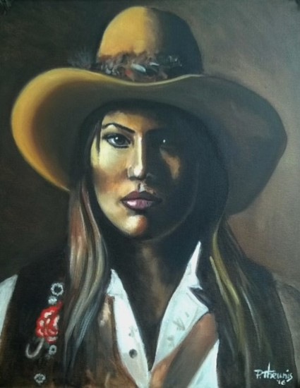 Native Lady with Hat