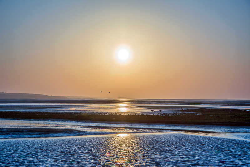 Sunrise above the Waddenzee