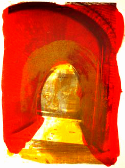 Red gate 2 ; litho-copy-art