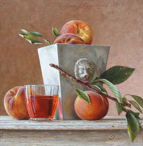 Still life with peach
