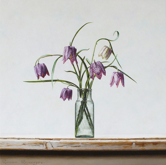 Still life with Fritillaria flowers 2 (pendant)