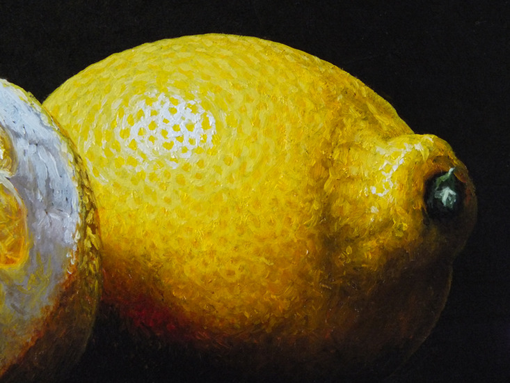 Detail 4 of white wine and lemons