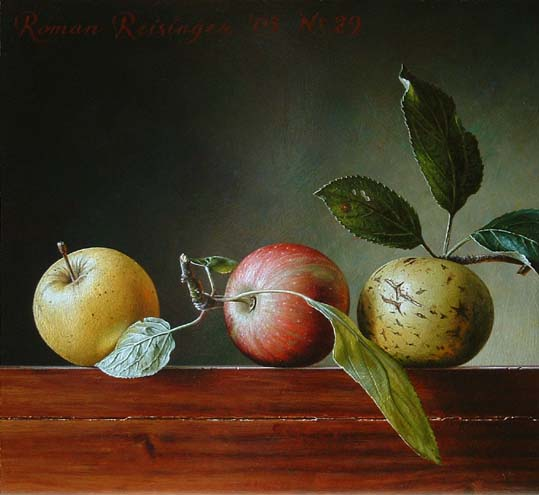 Still life with 3 apples