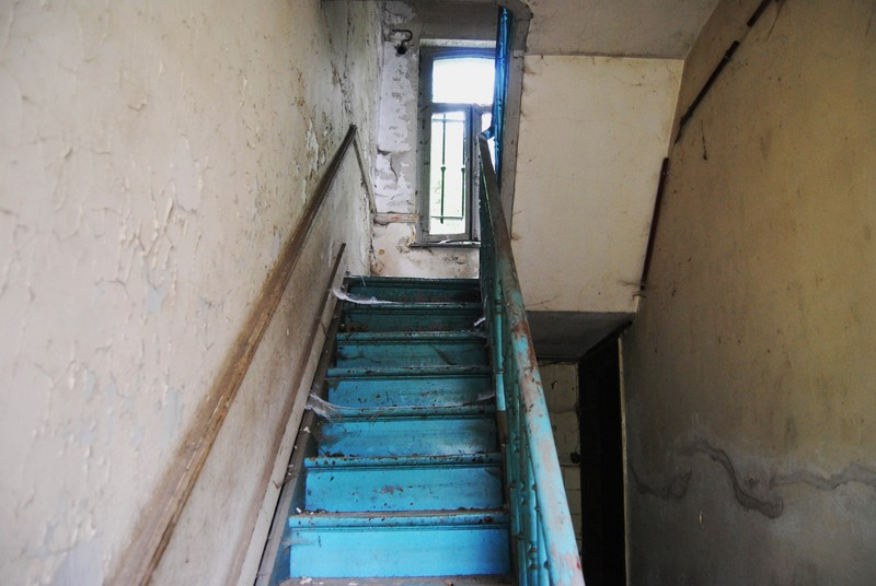 the blue stairway