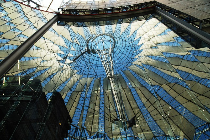 inside the Sony Center- Berlin