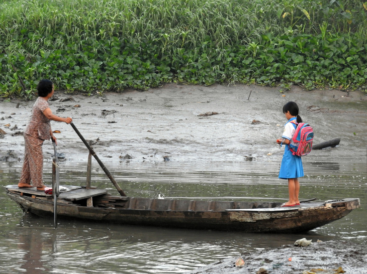 on the way to school (Mekong delta)