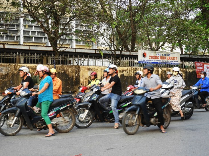 millions of scooters in Vietnam