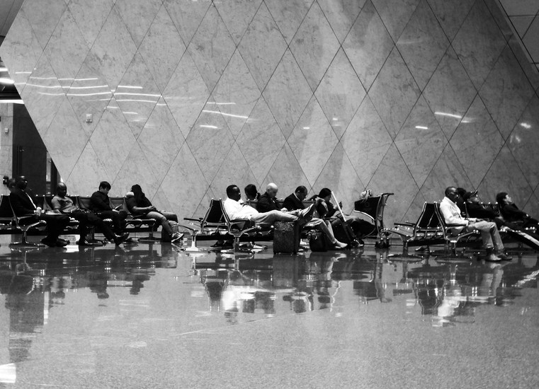 waiting at the airport (Doha)
