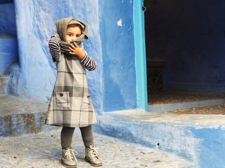 girl in Chefchaouen