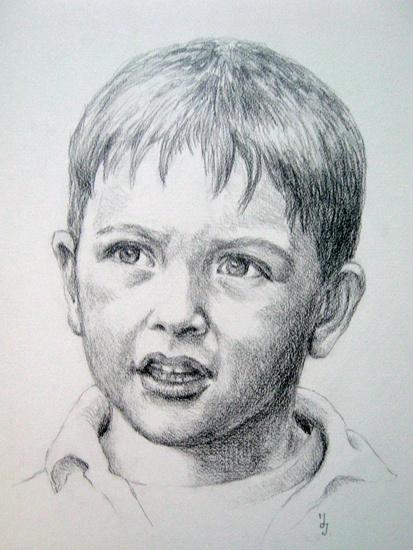 Portret in opdracht van janita de jong - Schilderen kind jongen ...