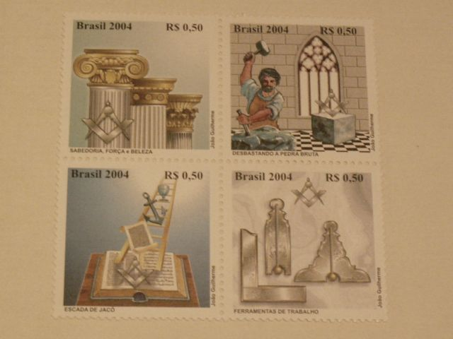 Set of 4 stamps (BR)
