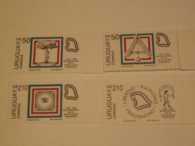 Set of 4 stamps (UY)