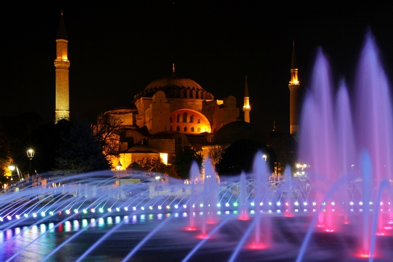 Hagia Sophia by night