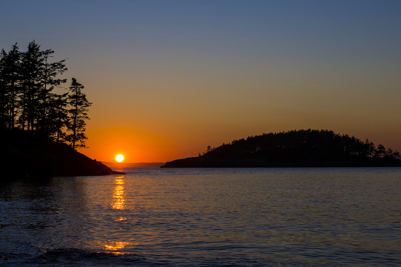 zonsondergang Deception Pass S.P.