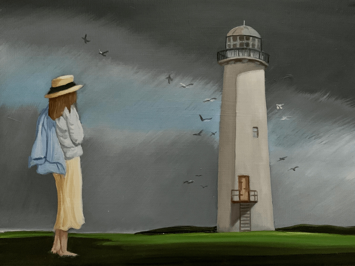 The woman and the lighthouse
