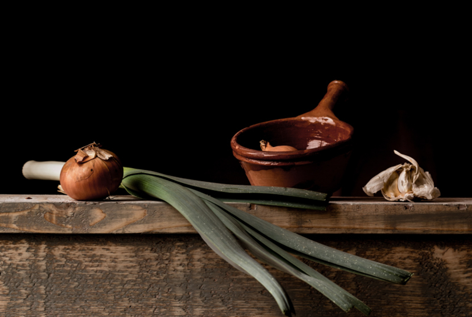 Still life with Leek