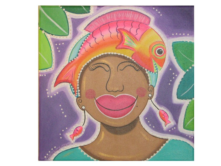 Women with fish on her head