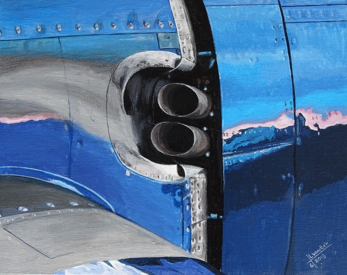 Chance Vought F4U-4 Corsair uitlaat detail  (Bestelnr. USA-51)