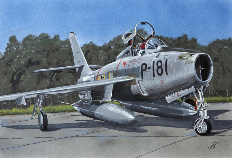 Republic F84F Thunderstreak. (Bestelnr. (KLU-51)