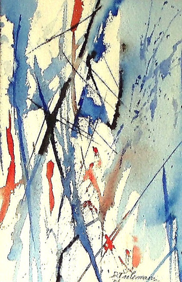 Abstract 2, aquarel