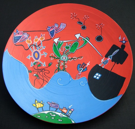 Plate 'Battle on the Pirate ship'