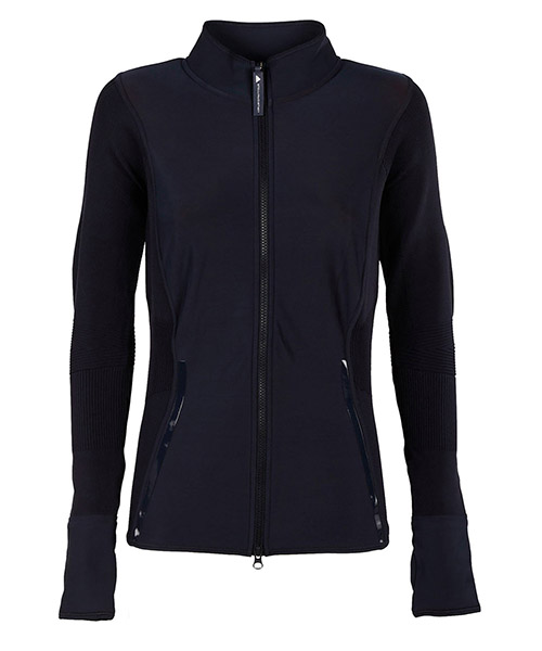 Zip sweatshirt  Adidas by Stella McCartney BQ8320 blu