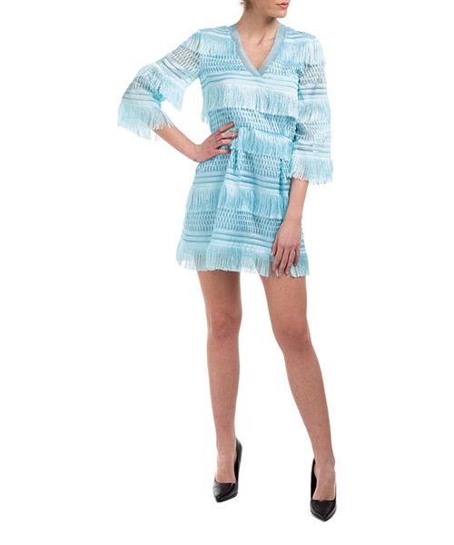 Vestito corto Alberta Ferretti A046816330332 azzurro