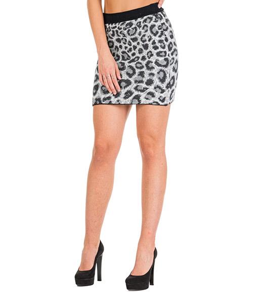 Mini jupe Alberta Ferretti Love me wild J018451071516 grigio