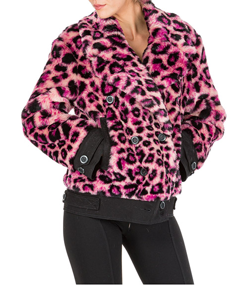 Меховая куртка Alberta Ferretti love me wild j062051621169 rosa