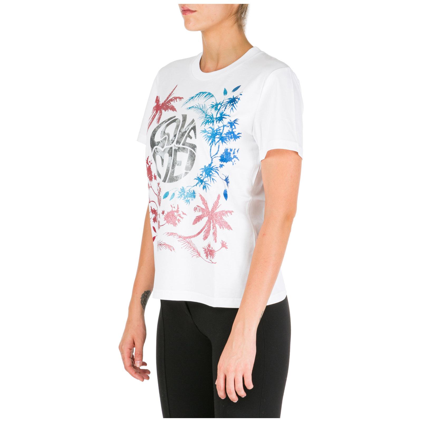 Women's t-shirt short sleeve crew neck round love me wild