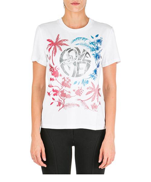 Camiseta de mujer de cuello redondo con mangas cortas love me wild