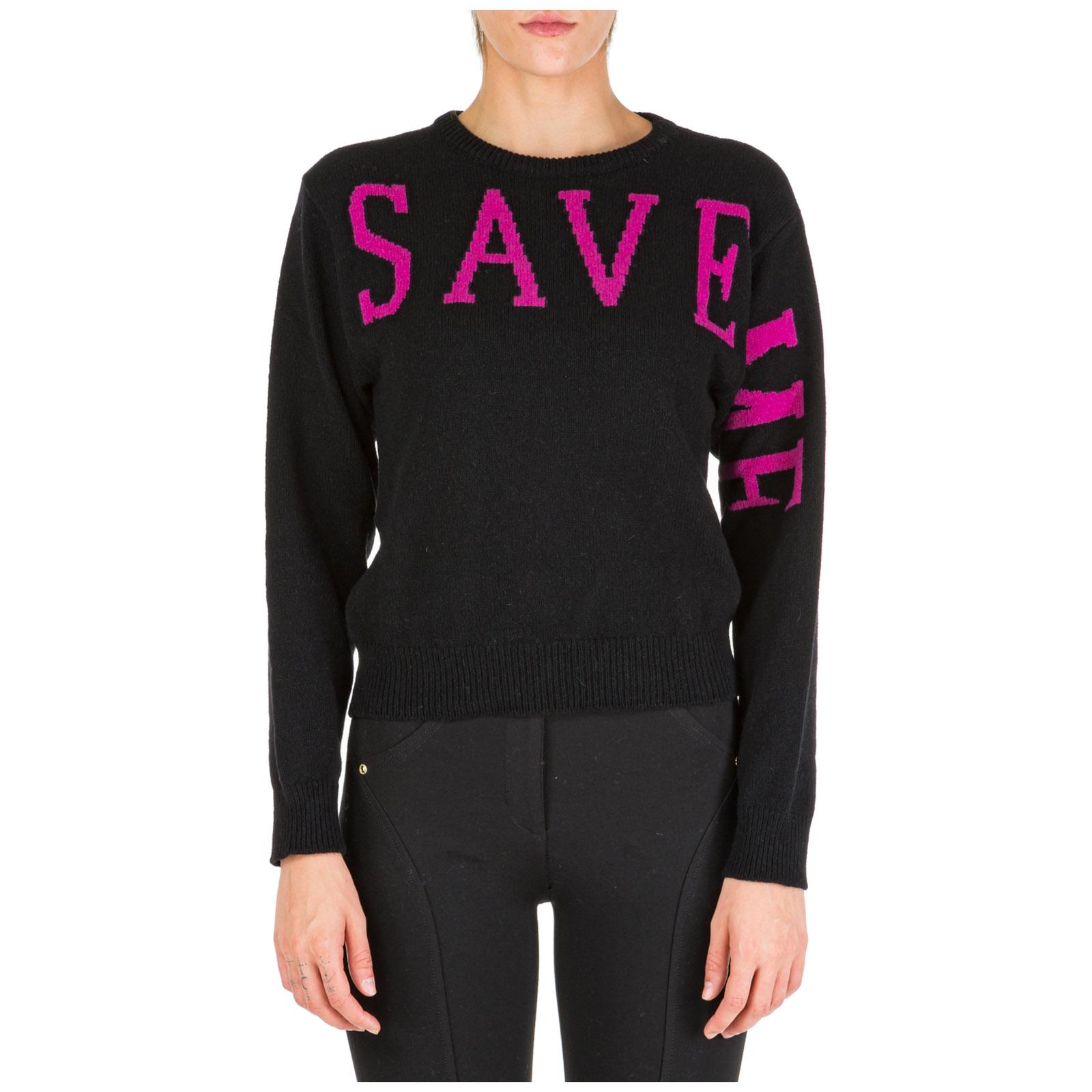 Women's jumper sweater crew neck round save me
