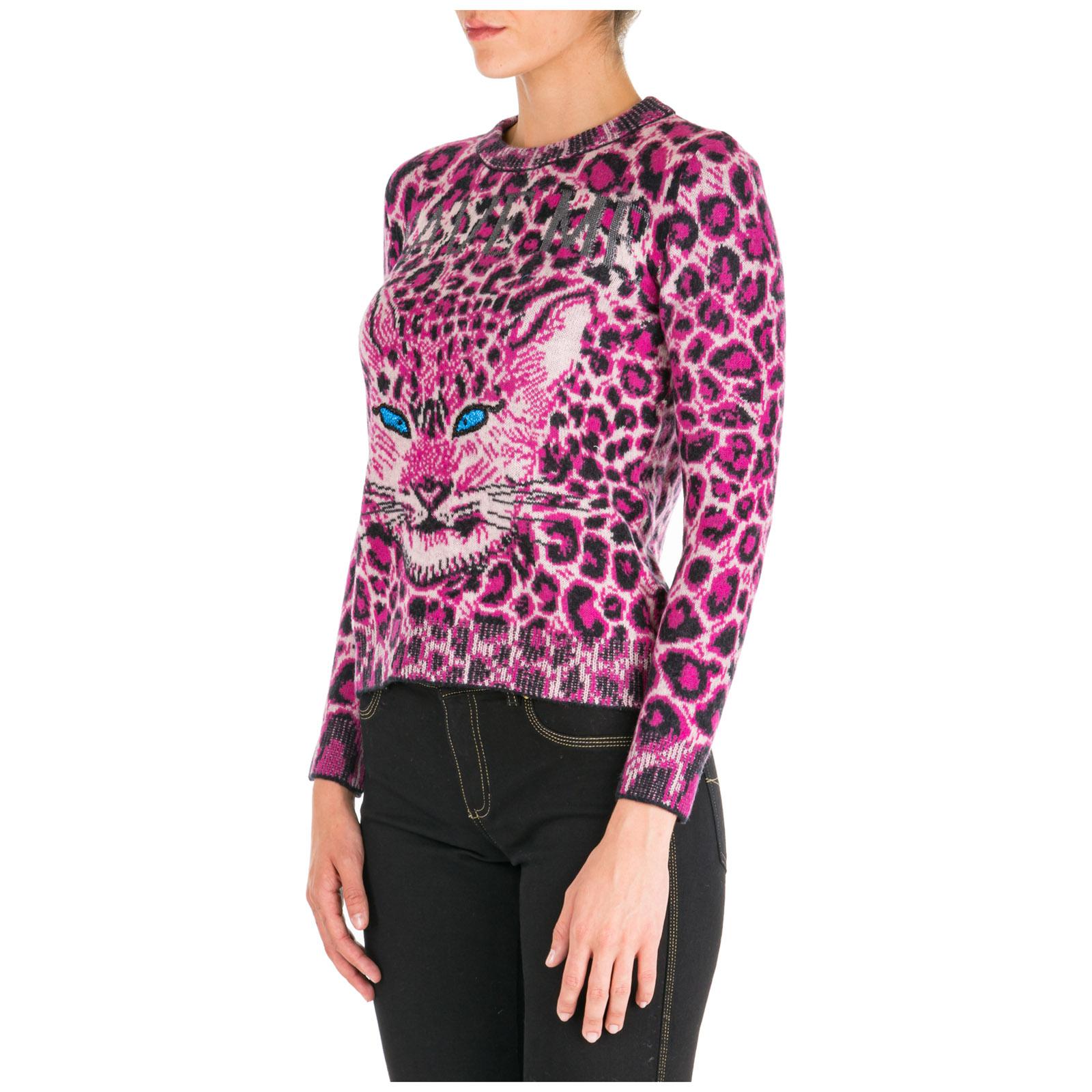 Women's jumper sweater crew neck round love me wild