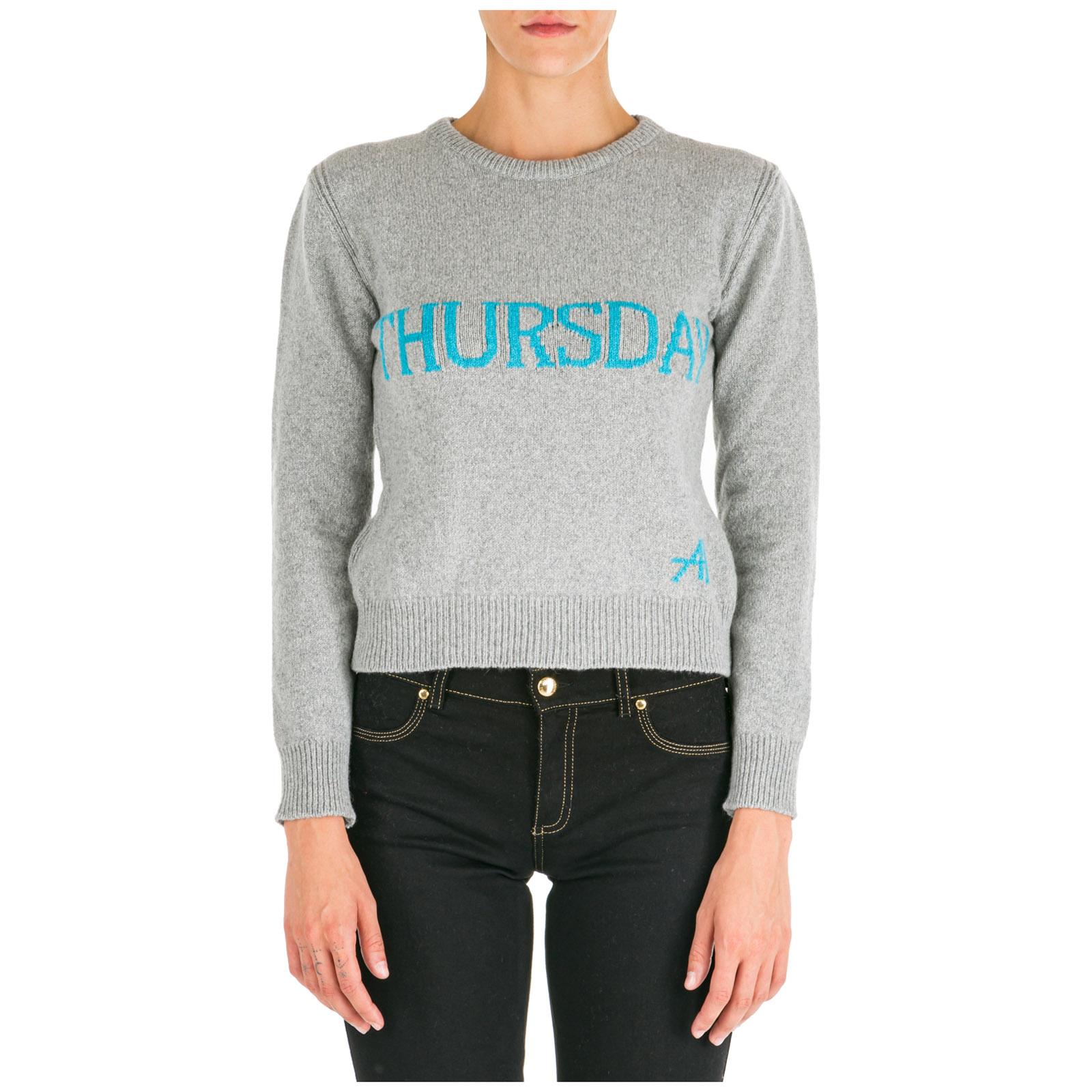 Women's jumper sweater crew neck round rainbow week thursday