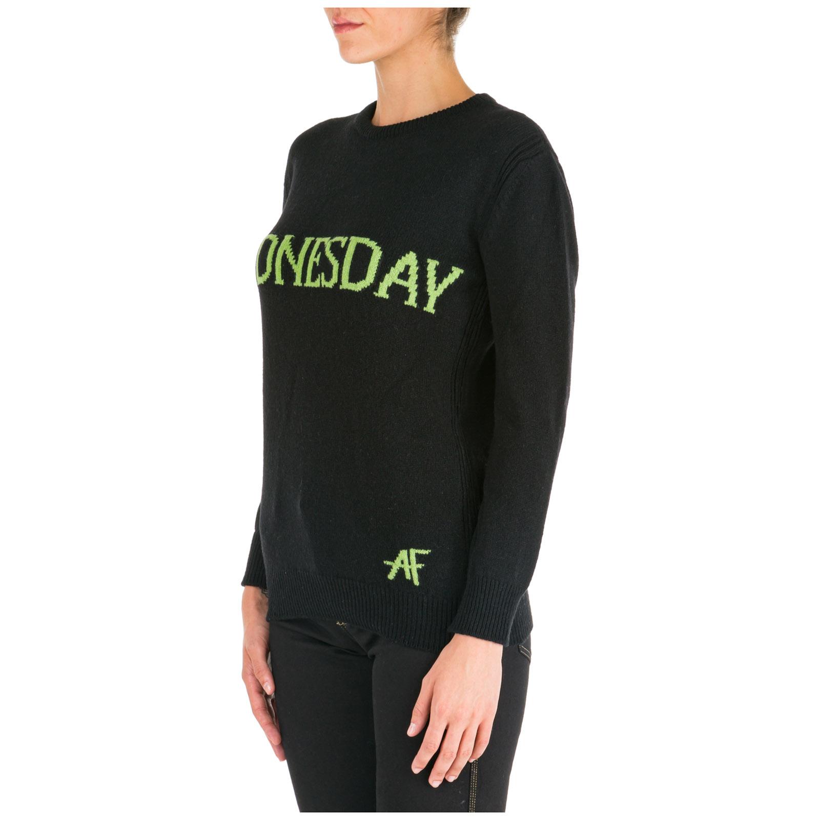 Women's jumper sweater crew neck round rainbow week wednesday