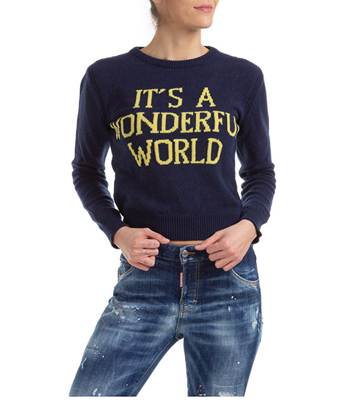 Джемпер Alberta Ferretti it's a wonderful world J094216031290 blu