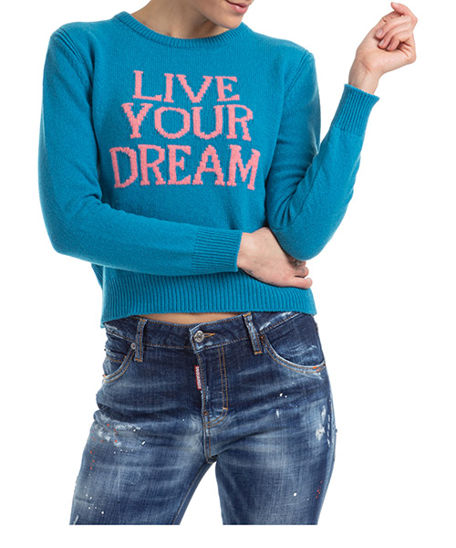 Джемпер Alberta Ferretti live your dream J094216031317 azzurro