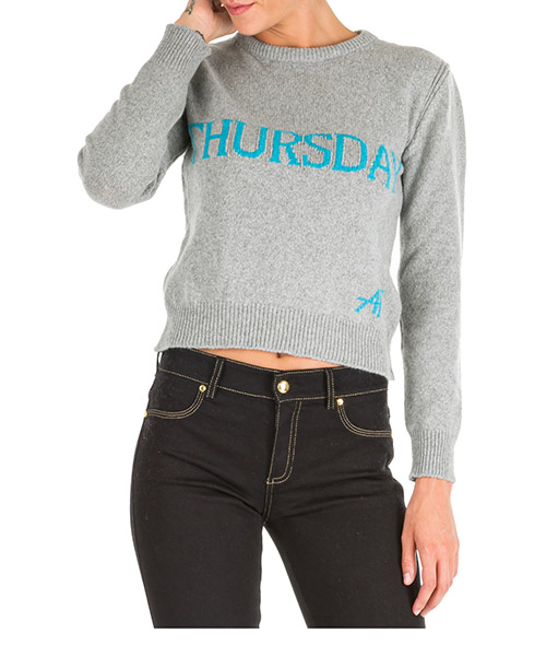 Jumper Alberta Ferretti Rainbow Week Thursday J094251122502 grigio