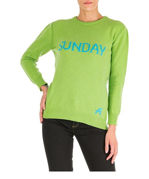 Pullover Alberta Ferretti rainbow week sunday j094351121418 verde