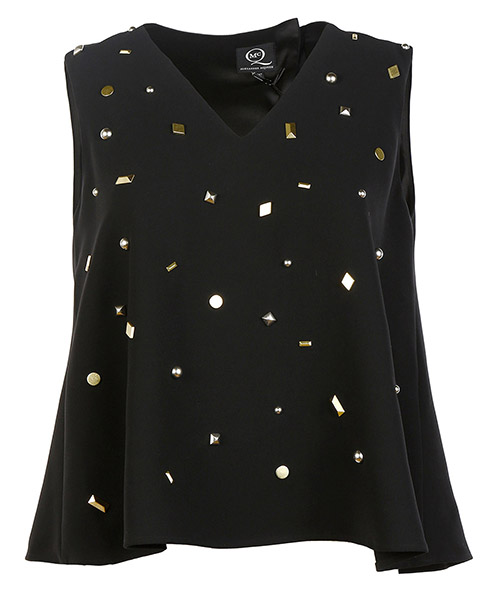 Top senza maniche  studded
