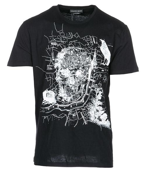 T-shirt Alexander McQueen 463984QJ2590901 nero
