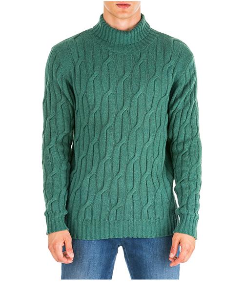 Maglione collo alto AT.P.CO a19451ace02 verde860
