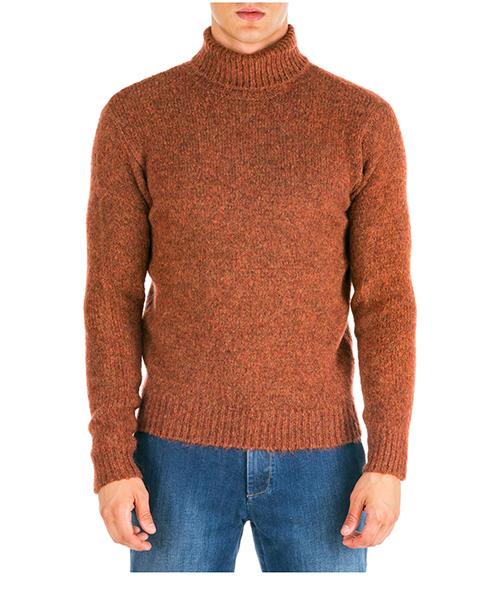 Maglione collo alto AT.P.CO a19455wood02 arancio380