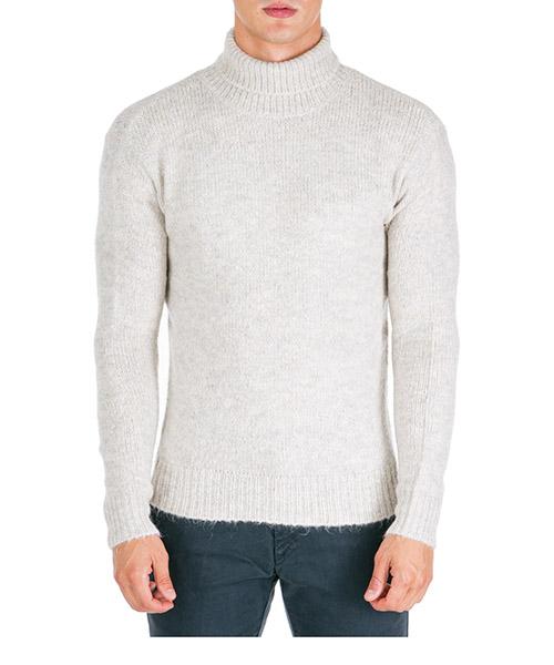 Suéter cuello alto AT.P.CO A19455 WOOD beige020