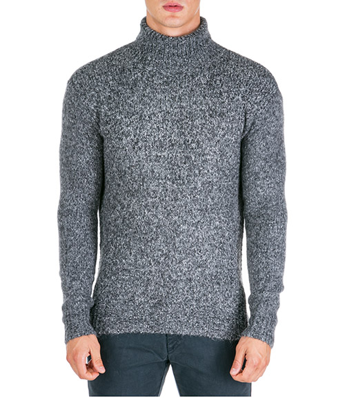 Roll neck jumper AT.P.CO a19455 wood nero990