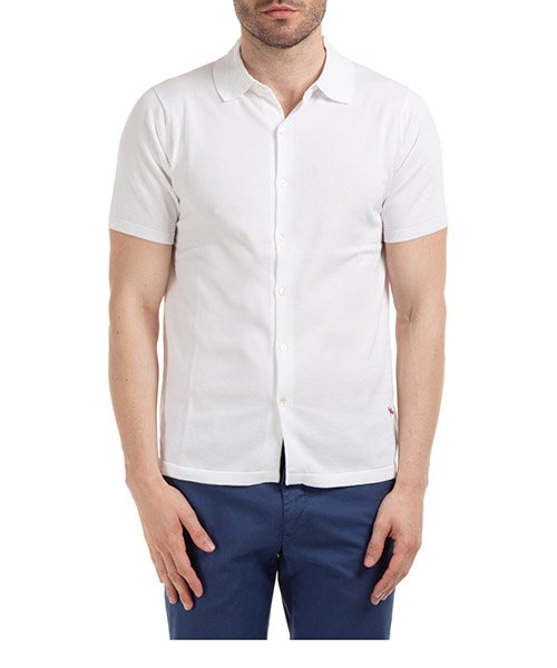 Short sleeve shirts AT.P.CO A20470 M200 bianco010
